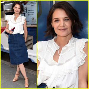 Katie Holmes Kicks Off Summer on The Perksicle Tour in NYC!
