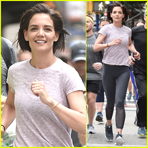 Katie Holmes Takes Part in Global Running Day in NYC!