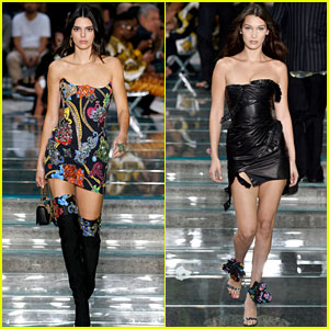 Kendall Jenner & Bella Hadid Walk in Versace's Menswear Show
