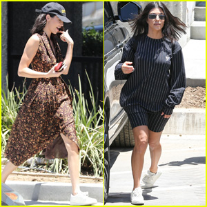 Kendall Jenner & Kourtney Kardashian Head to Kanye West's Office