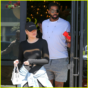 Khloe Kardashian & Boyfriend Tristan Thompson Grab Lunch Together at Joey!