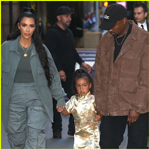 Kim Kardashian & Kanye West See 'Frozen' on Broadway with North for Her Birthday!