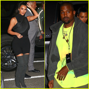 Kim Kardashian & Kanye West Attend Nas Listening Party in NYC!