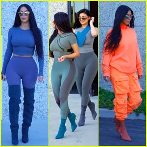 Kim Kardashian & Kylie Jenner Arrive for a Photo Shoot in LA!