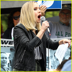 Kristen Bell Speaks at Keep Families Together Rally & Toy Drive!