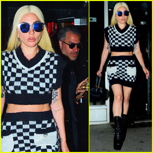Lady Gaga Rocks Chic Checkered Look for Night Out with Boyfriend Christian Carino!