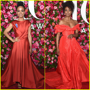 Lauren Ridloff & Condola Rashad Go Glam in Red for Tony Awards 2018!