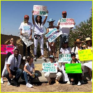 Lena Dunham, Amber Heard, Sia & More Protest Family Separation Policy in Texas