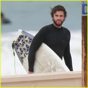 Liam Hemsworth Hits the Waves For Surfing Session With Brother Luke