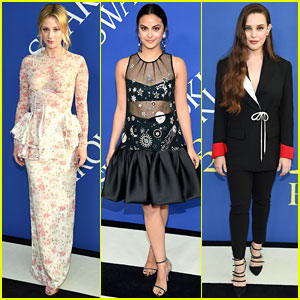 Lili Reinhart, Camila Mendes, & Katherine Langford Join Forces at CFDA Fashion Awards 2018