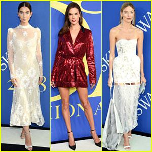 Lily Aldridge, Alessandra Ambrosio, & More VS Angels Attend the CFDA Fashion Awards!