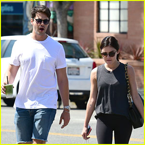 Lucy Hale & Jayson Blair Catch Up Over Lunch