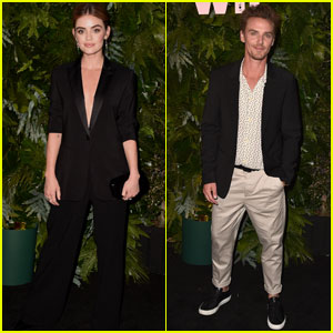 Lucy Hale & Riley Smith Step Out at Max Mara's Face of the Future 2018!