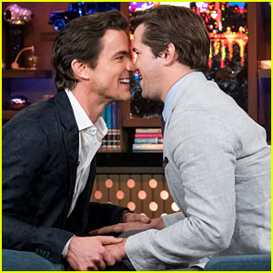 Matt Bomer & Andrew Rannells Share a Kiss During Uncomfortably Close Interview! (Video)