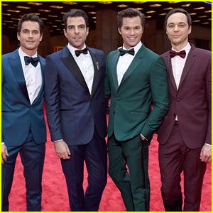 Matt Bomer, Zachary Quinto, Andrew Rannells, & Jim Parsons Wear Matching Tuxedos to Tony Awards 2018!