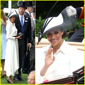 Duchess Meghan Markle Makes Royal Ascot Day Debut!