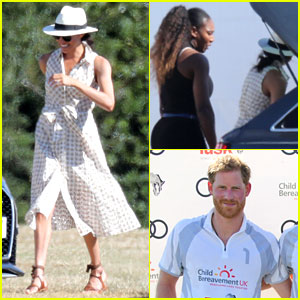 Serena Williams Joins Meghan Markle to Watch Prince Harry Play Polo!