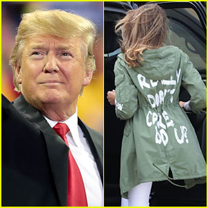 Celebrities React to Melania Trump's 'I Really Don't Care' Coat While Leaving for Border Visit