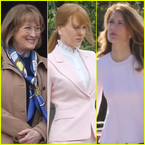 Meryl Streep Joins Nicole Kidman & Laura Dern on 'Big Little Lies' Set!