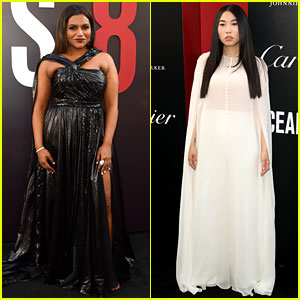 Mindy Kaling & Awkwafina Glam Up for 'Ocean's 8' Premiere!