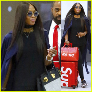Naomi Campbell Looks Chic Arriving at the Airport in NYC