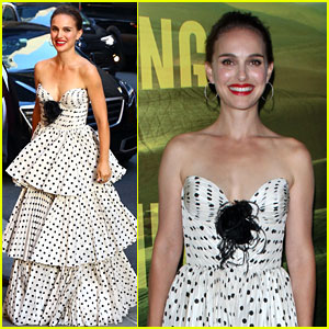 Natalie Portman Wears Polka-Dotted Dress at 'Eating Animals' Screening