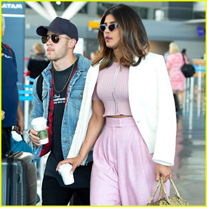 Nick Jonas & Priyanka Chopra Arrive at JFK Airport Together