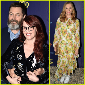 Nick Offerman & Toni Collette Step Out for 'Hearts Beat Loud' Premiere
