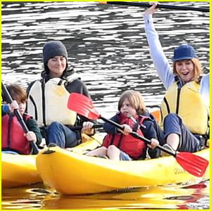 Nicole Kidman & Shailene Woodley Go Canoeing for 'Big Little Lies' Scene!