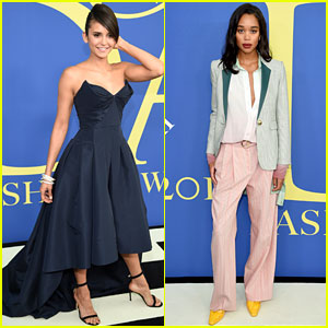 Nina Dobrev & Laura Harrier Show Off Their Styles at CFDA Fashion Awards 2018