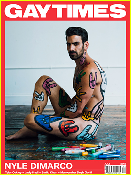 Nyle DiMarco Gets Sign Language Painted On His Body for 'Gay Times' Cover
