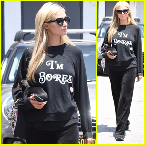 Paris Hilton Sends a Message While Visiting the Salon: 'I'm Bored'!