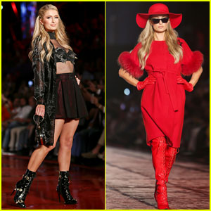 Paris Hilton Walks the Runway at Dosso Dossi Fashion Show