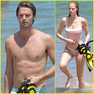 Patrick Schwarzenegger Flaunts Toned Abs on Vacation with Abby Champion!