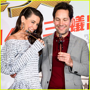 Paul Rudd & Evangeline Lilly Promote 'Ant-Man & the Wasp' in Taipei!