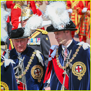 Prince William Joins Prince Charles at Order of the Garter Parade!