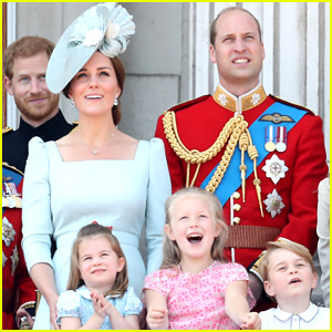 Prince William & Kate Middleton Bring the Kids to Trooping the Colour Parade!