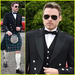 Richard Madden Wears a Kilt to 'Game of Thrones' Co-Stars' Wedding!