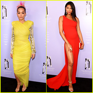 Rita Ora & Pregnant Chanel Iman Add Bright Colors to Fragrance Foundation Awards!