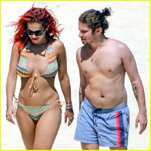 Rita Ora Flaunts Her Figure in Colorful Bikini With Boyfriend Andrew Watt in Tuscany