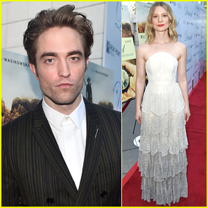 Robert Pattinson & Mia Wasikowska Step Out for 'Damsel' Premiere!