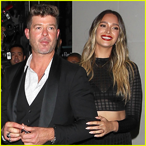 Robin Thicke & April Love Geary Step Out for Date Night!