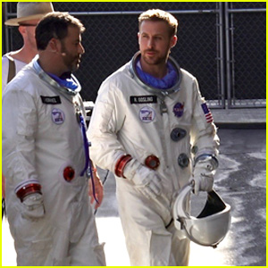 Ryan Gosling Wears a Spacesuit While Filming a Skit With Jimmy Kimmel!