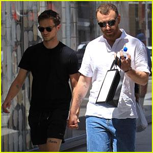 Sam Smith & Boyfriend Brandon Flynn Hold Hands for Rodeo Drive Shopping Trip