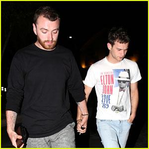 Sam Smith & Brandon Flynn Hold Hands After Dinner Date!