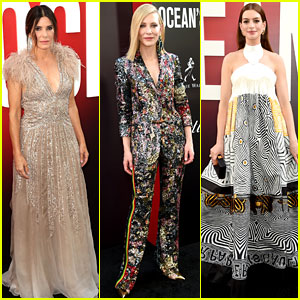 Sandra Bullock, Cate Blanchett, & Anne Hathaway Glam Up for 'Ocean's 8' NYC Premiere!