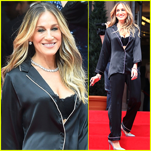Sarah Jessica Parker Goes Chic in Silk Pajamas in NYC!