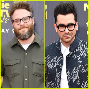 Seth Rogen & Daniel Levy Step Out for MTV Movie & TV Awards 2018!