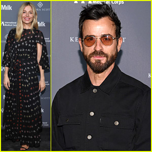 Justin Theroux Supports Sienna Miller at International Medical Corps Event