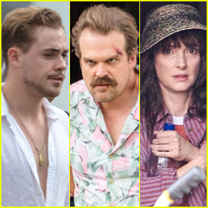 Dacre Montgomery, David Harbour & Winona Ryder Film 'Stranger Things' Season 3!